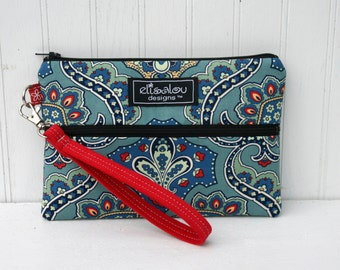 Padded Wristlet Mini Purse- Bandana