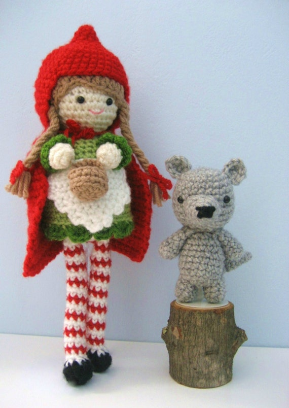 Amigurumi Crochet Little Red Riding Hood and Wolf Pattern