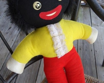 Black Americana Doll vintage collectible wind up twinkle twinkle little star childrens collectible collectible doll black americana