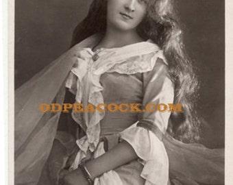 Phyllis Dare lily theater actress postcard British