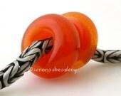 European Charm Orange TANGERINE SPARKLE Handmade Lampwork Glass Bead TANERES