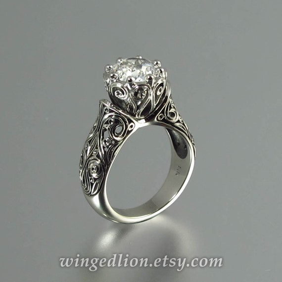 like this item - White Sapphire Wedding Rings