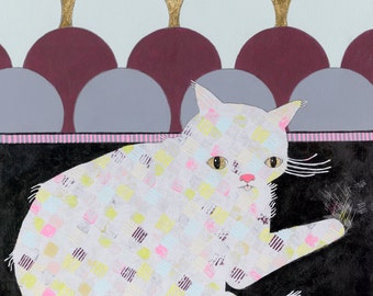 Kitty - Original Mixed Media Art Painting