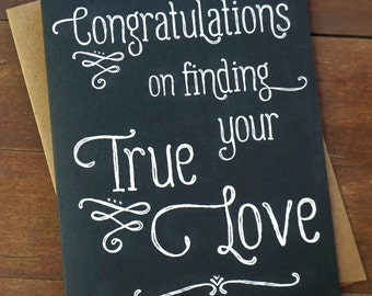 Wedding Congratulations Card - Wedding Gifts for Couple Congratulations Card Wedding Engagement Card Mr and Mrs True Love
