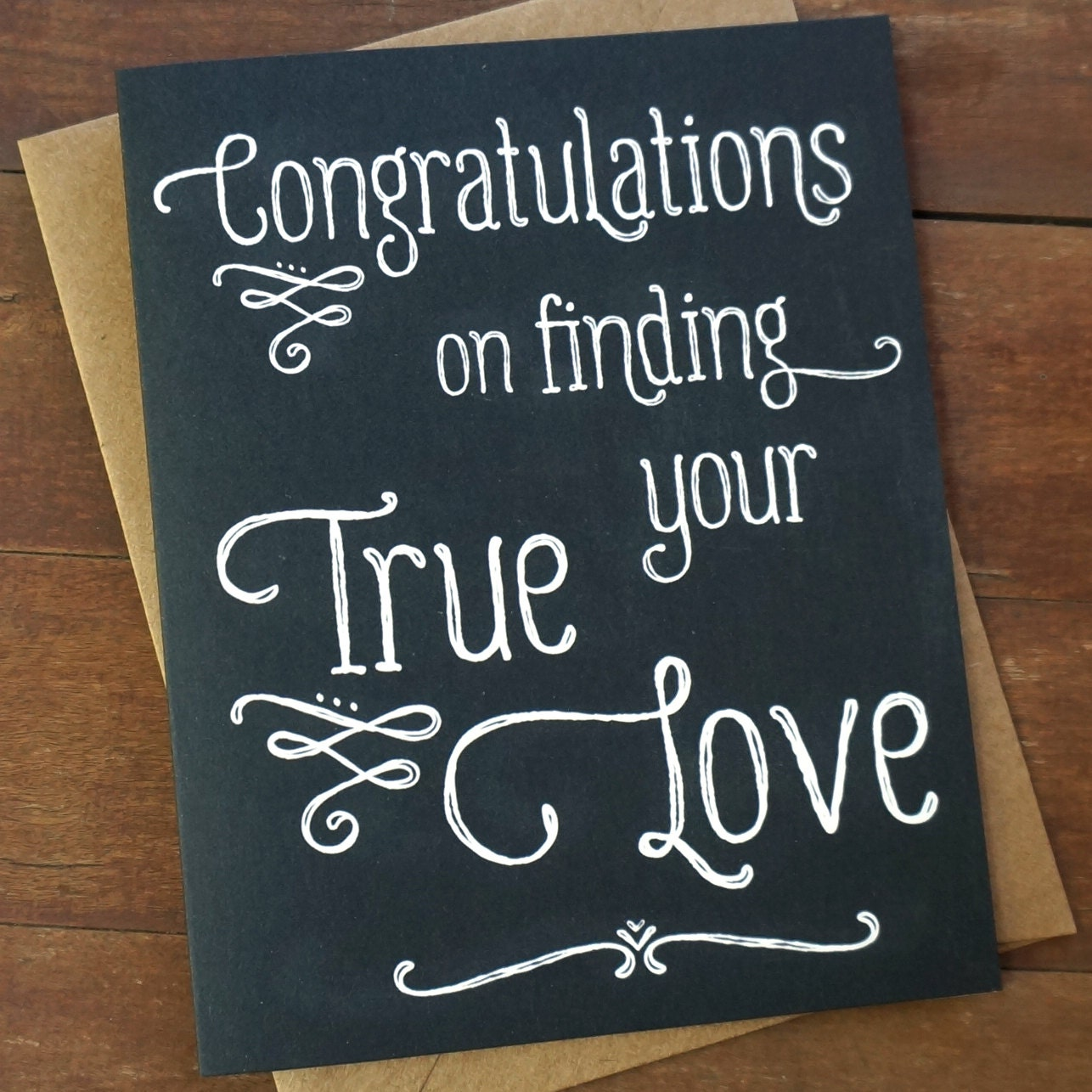 Wedding Congratulations Card Finding Your True by PheasantPress