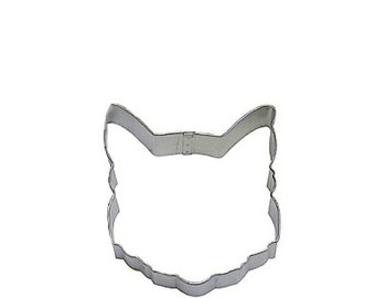 Cat Face Cookie Cutter, great for needlefelting ornaments and a zillion other crafty uses, 3.75""
