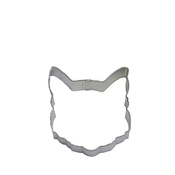 """Cat Face Cookie Cutter, great for needlefelting ornaments and a zillion other crafty uses, 3.75"""""""
