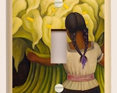 Single Light Switch Plates - Diego Rivera #4 - Girl with Calla Lilies