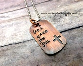 God gave me you- personalized necklace-personalized jewelry-first communion gift-confirmation gift-religious jewelry-religious necklace