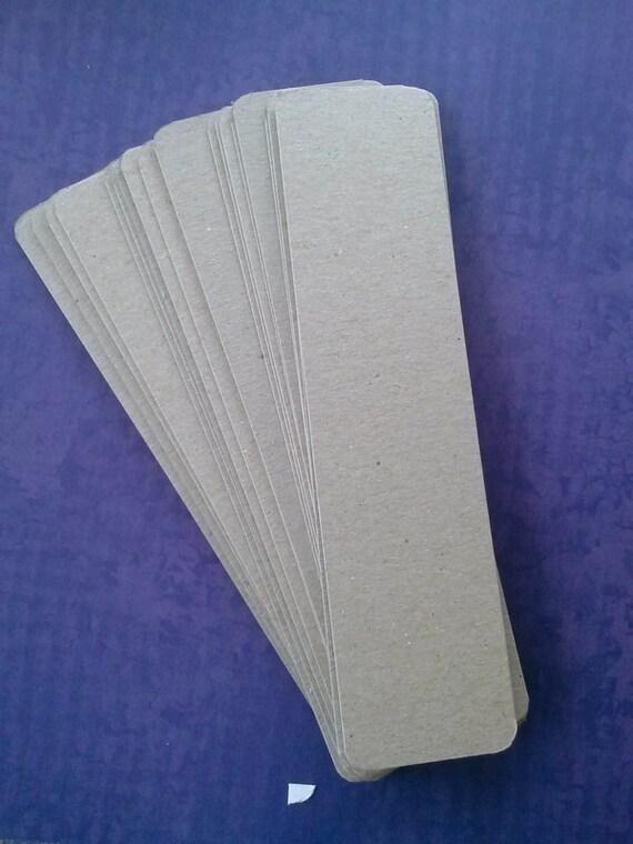 bookmark blanks - 2x8 inch - set of 20 round cornered