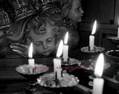 Candles at St. Peter's Church in Drogheda Co. LOUTH,  St. Patrick's Day Gift for Goths, Quintessential IRELAND Photography, IRISH Catholic