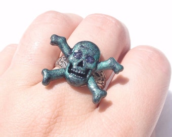 A Pirate's Ring for Me- Hand-Painted Resin Ring (R-014)