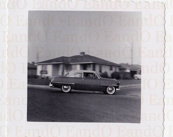 """Vintage Photo """"Cruising Through the Neighborhood"""" Incredible Snapshot of a Car in Motion - Car in Focus Background is Not"""