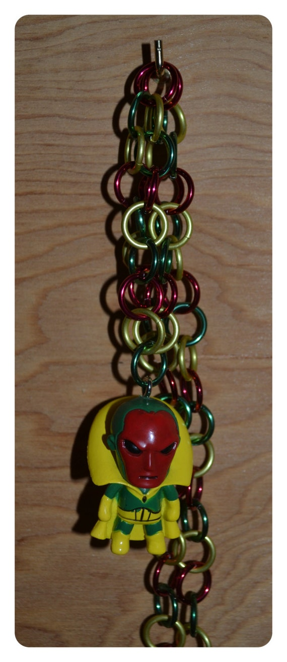 Behold the Vision Tokidoki Red, Green and Yellow Chain Necklace