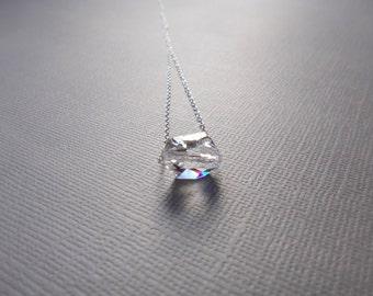 Sterling silver necklace wtih Swarovski Crystal- clear