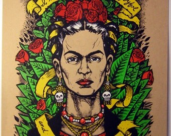 Last Words series Frida Kahlo 3rd edition limited edition screenprint
