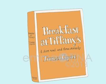 Breakfast at Tiffany's Decorative Illustration Art Poster