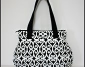 Black & White Zip and Go Handbag