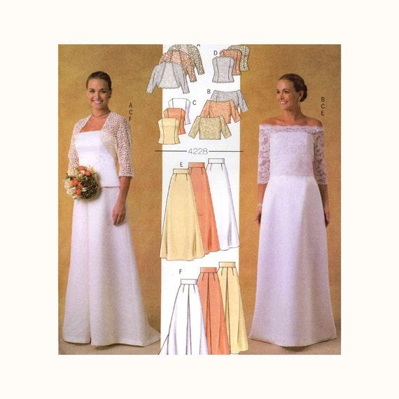 Brides Wedding Pattern Plus Size Top Skirt Shrug Sewing