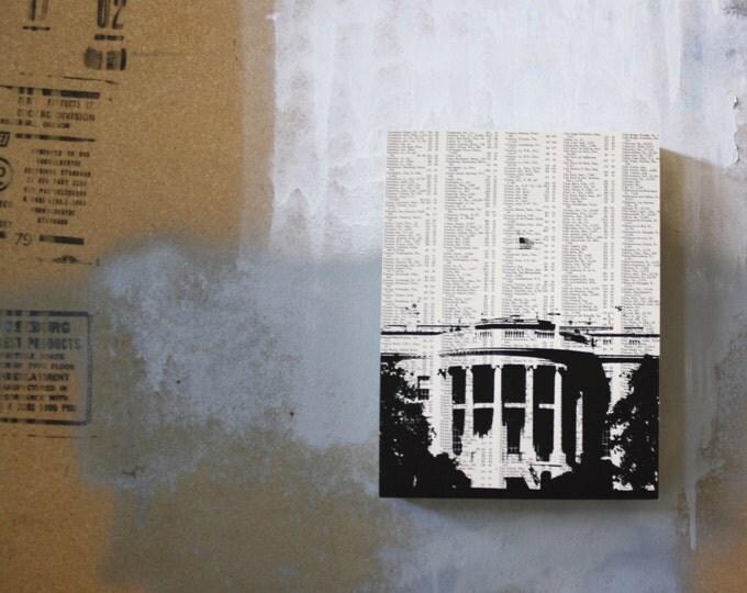 Washington DC Atlas Page Print - White House