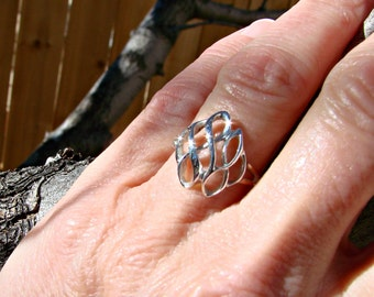 70% OFF Going Out of Business Sale.. Last One. Ribbon Candy - Sterling Silver Ring- Size 6.25