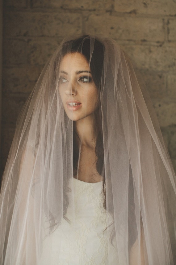 Ombre Hand Dyed Blush Pink Bridal Veil By CleoandClementine