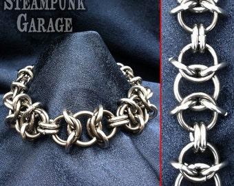 12 gauge Byzantine Heavy Duty b/w Steel - Chainmaille