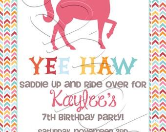 Printable Horse Birthday Party Invitation