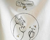 SAVE the Bees Love the Bees Screen print Flour Sack Tea Towel With Original Bee Design