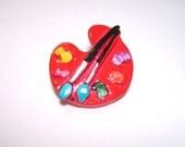 Painters Palette Pin