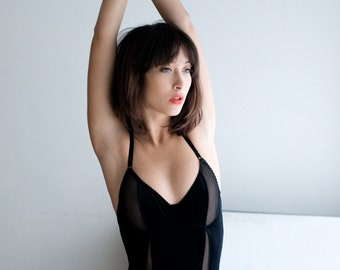Bodysuit santa - velvet handmade lingerie