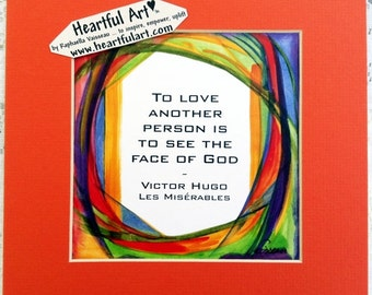 To Love Another VICTOR HUGO Inspirational Quote Les Miserables Motivational Print Friends Broadway Author Heartful Art by Raphaella Vaisseau
