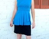 Rowena ~ V-Neck Sleeveless Dress Top ~ Bamboo & Organic Cotton ~ Made to Order