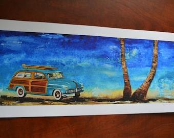 1940s Mercury Woody Print, men, gift, present