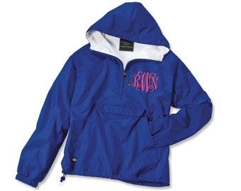 Monogrammed Pullover Rain Jacket Personalized Sorority Greek Charles River Brand