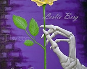 """11""""x14"""" print The Yellow Rose by Leslie Berg"""