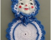 Clown Doll Face Potholder