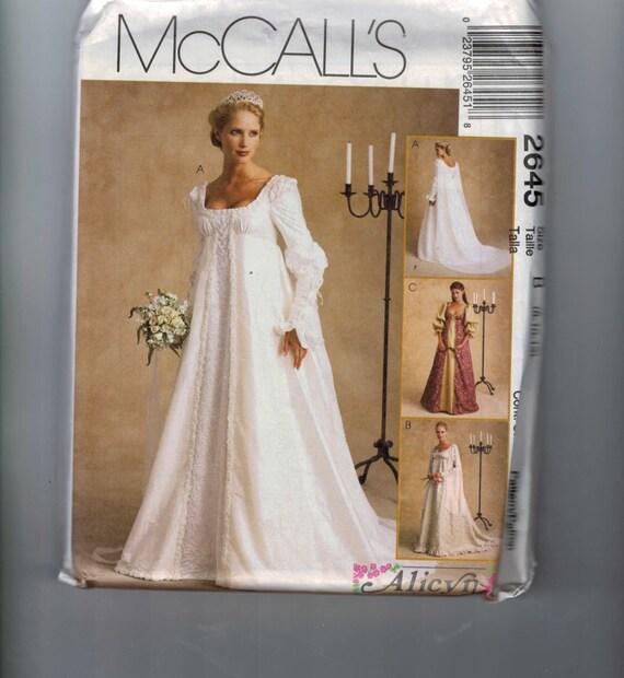 Renaissance Faire Wedding Dress Gown Costume History Mccalls: Costume Sewing Pattern McCalls 2645 Renaissance Elizabethan