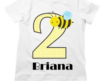 Bumble Bee Birthday Shirt or Bodysuit - Personalized Birthday Shirt