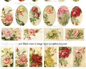 Large digital download Multiple image collage Vintage Klein Roses ATC ACEO ECS Jewelry buy 3 get one free