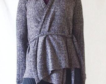 ON SALE - Purple Sparkle Wrap-Around Coat - Small