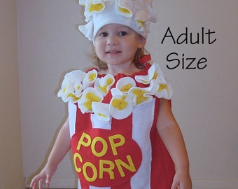 Adult Costume Teen Womens Mens Popcorn Box Halloween Costume