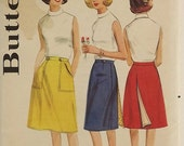 Vintage 60's Sewing Pattern, Misses Wrap Skirt, Size 32 Waist