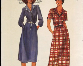 Vintage 70's Sewing Pattern, Misses' Dress, Size 10