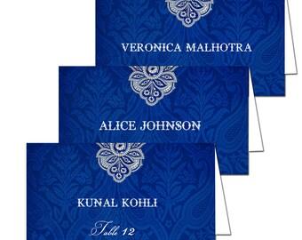 Set of 50 Royal Blue Escort Cards