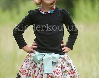 Girls Christmas Skirt Nicolle White - Size 5 Ready to Ship