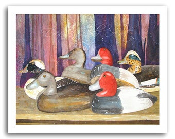Louisiana Duck Decoy Swamp Waterfowl Art Prints Signed and Numbered