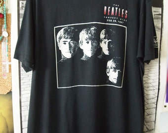 THE BEATLES Tshirt // Make An Offer // Vintage 80s Shirt Extremely Rare Capitol Records Compact Disc 1980s Promo Shirt Unisex LARGE