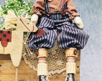 Cloth Doll E-Pattern - 23in Raggedy Andy Epattern