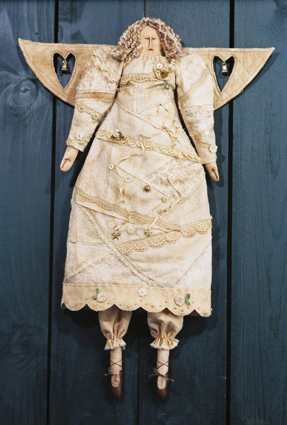 Cloth Doll E-Pattern - Victorian Christmas Angel Epattern